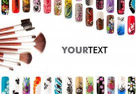 image of nail paint  - Nail art handmade - JPG