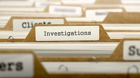 stock photo of investigation  - Investigations Concept - JPG