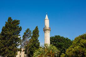 stock photo of larnaca  - Djami Kebir Mosque Minaret  - JPG