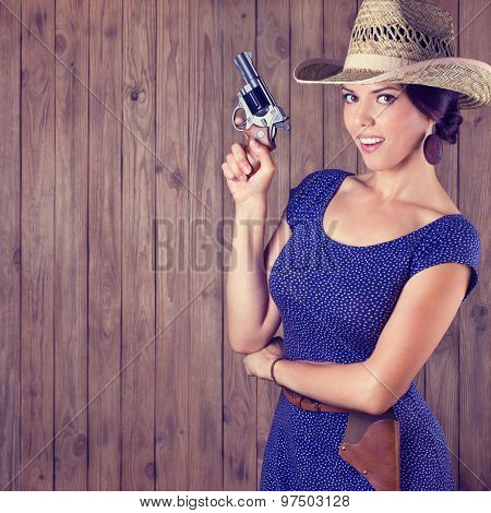 Cheerful Cowboy Girl