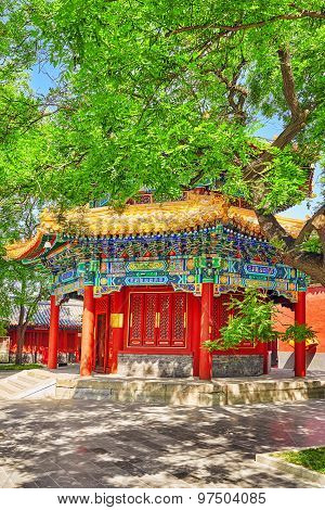 Beautiful View Of Yonghegong Lama Temple.beijing. Lama Temple Is One Of The Largest And Most Importa