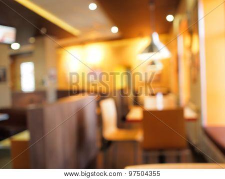 Defocused And Blur Restaurant Interior