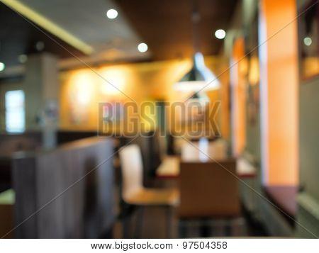 Defocused And Blur Restaurant Inside