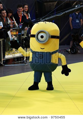 Yellow Minion At Despicable Me Premiere In Central London 11 October 2010