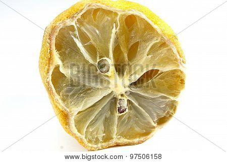 Half Rotten Lemon Close Up