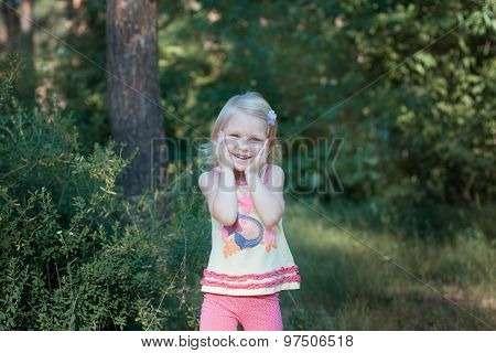Little Girl In The Forest.