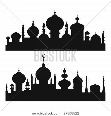 Islamic City Silhouettes