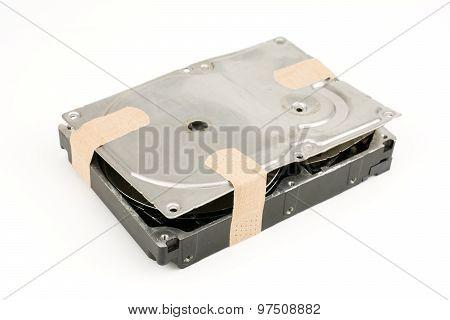 Plaster on hard disk drive
