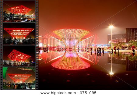 The  Axis Of The Expo At The Largest World Expo In Shanghai
