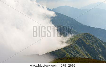 Misty Dreamy Landscape.