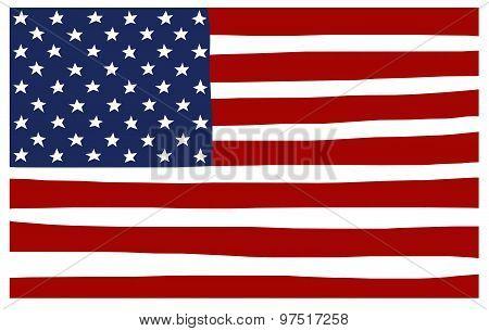 America Usa Stars And Stripes Flag Stylized