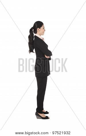 Fullbody Asian Business Woman