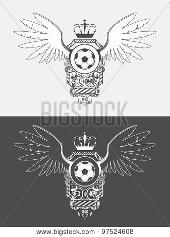 Vector university league logo template. Soccer logo template. Champions League. The logo for the foo