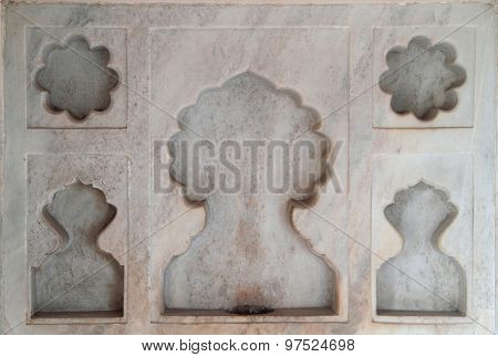one of decoration in palace, Agra fort
