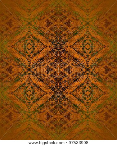 Seamless diamond pattern coppery