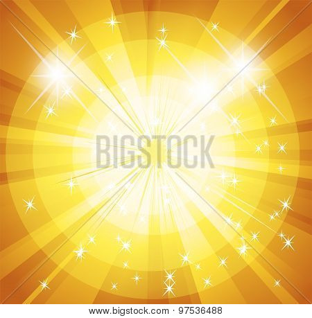 Star burst and sunbeam background