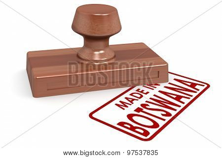 Wooden Stamp Made In Botswana