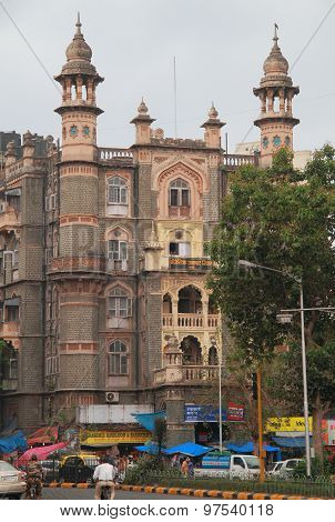 picturesque redidential house in gothic style, Mumbai