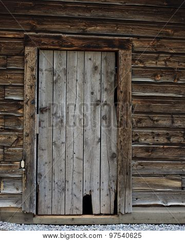 Old Log Cabin Door