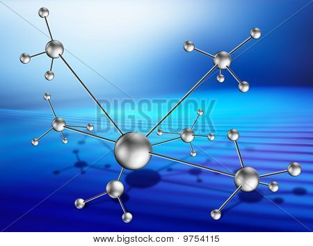 Molecular Lattice On Art Background