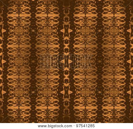 Seamless ornaments golden brown