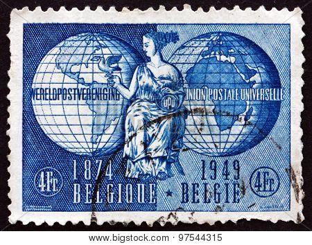 Postage Stamp Belgium 1949 Allegory Of Upu
