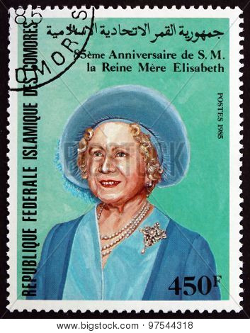Postage Stamp Comoros 1985 Queen Mother
