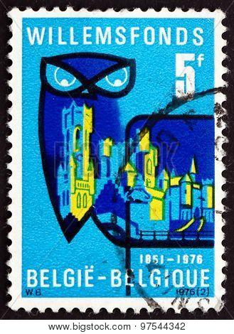 Postage Stamp Belgium 1976 Willemsfonds Emblem