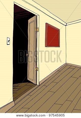 Room With Dark Doorway