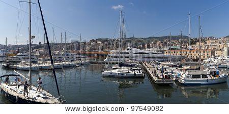 Marina Molo Vecchio In Genoa, Italy
