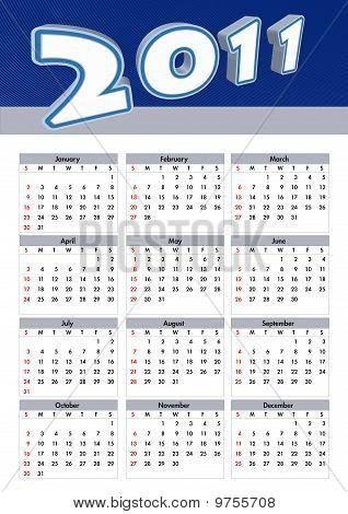 Modern calendar 3D