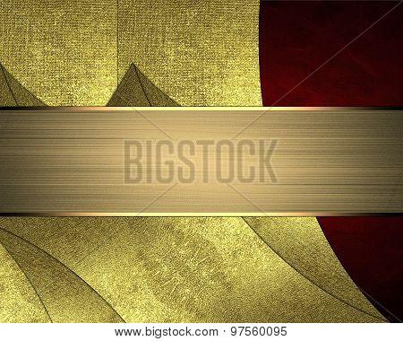 Decorating For Website Design, Postcards, Presentation And Gold Nameplate