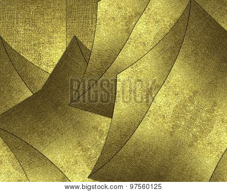 Abstract Gold Background From Pieces Of Metal. Template For Decorating Site Text, The Certificate Pr