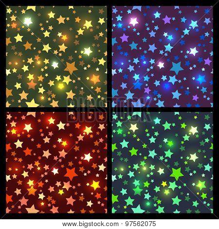 Bright stars seamless texture