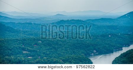Chimney Rock Park And Lake Lure Scenery