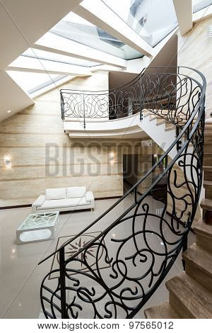 Staircase In Modern Home Interior