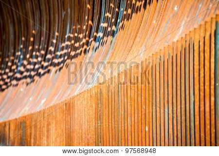 Arrayed Metal Fence Curved Forms