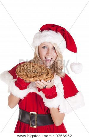 Santas Helper Big Cookie Bite Smile