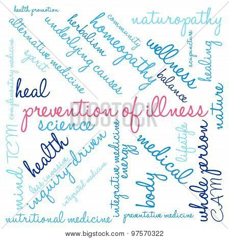 Prevention Of Illness Word Cloud
