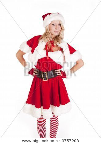 Santas Helper Standing Hands On Hips