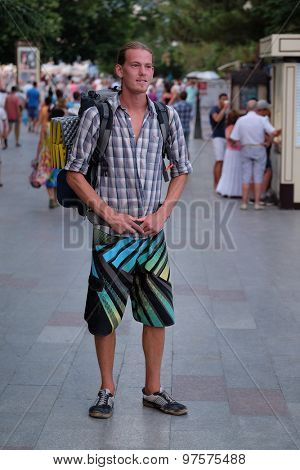 Portrait of a young tourist