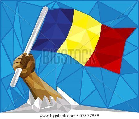 Romania - Moldova - Andorra - Chad - National Flag Colors Concept