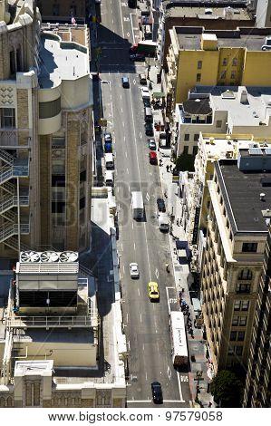 Streets Of San Francisco Seen From A Sky Scraper
