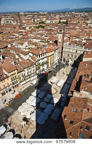 Panorama Of Verona From The Torre De Lamberti