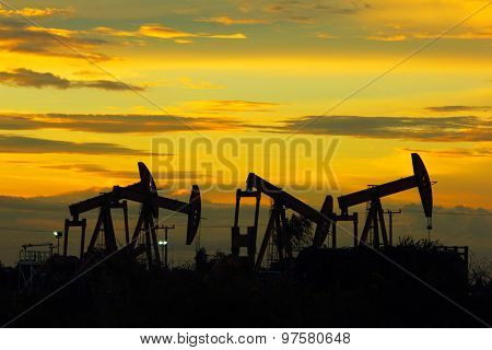 Sunset oil pumpjack