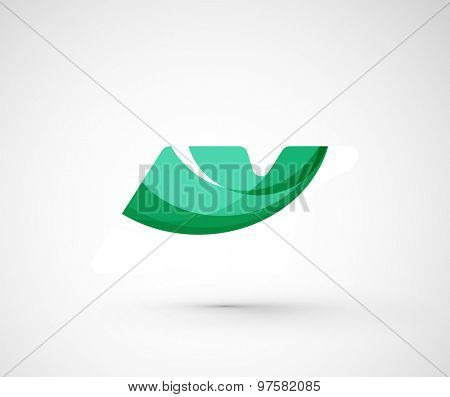 Abstract geometric company logo.  illustration of universal shape concept made of various wave overlapping elements