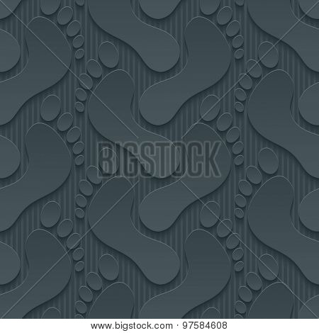 Footprints wallpaper. 3d seamless background. Vector EPS10.