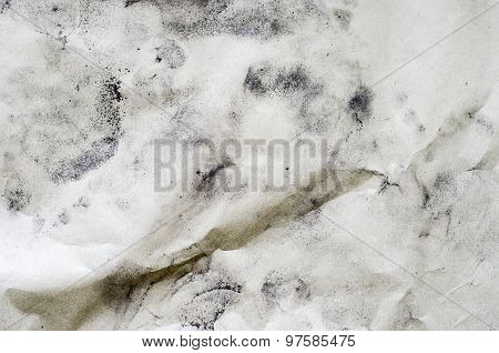 Soil Powder On Recycle Wrinkled Paper Texture,eco