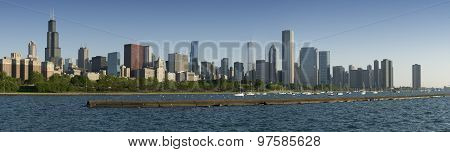 Panorama of Chicago Skyline