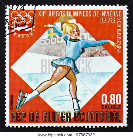 Postage Stamp Equatorial Guinea 1976 Figure Skating